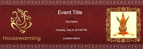 Indian Housewarming Invitation Cards Templates by India Invitation Free Invitations India