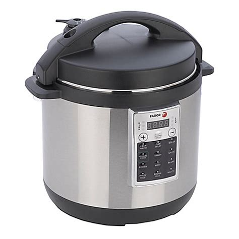 pressure cooker bed bath and beyond fagor premium 8 qt electric pressure cooker and rice