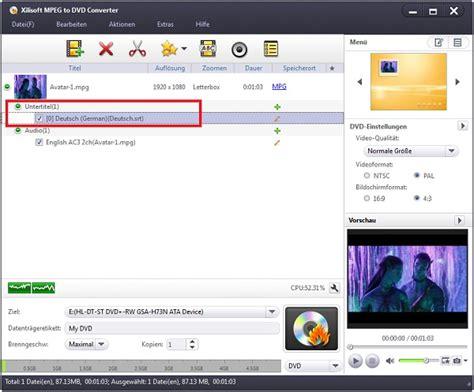 format zum abspielen auf dvd player xilisoft mpeg to dvd converter anleitung mpeg dateien