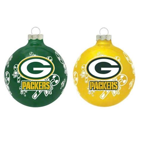 green bay packers ornament green bay packers glass ornament set packers rule