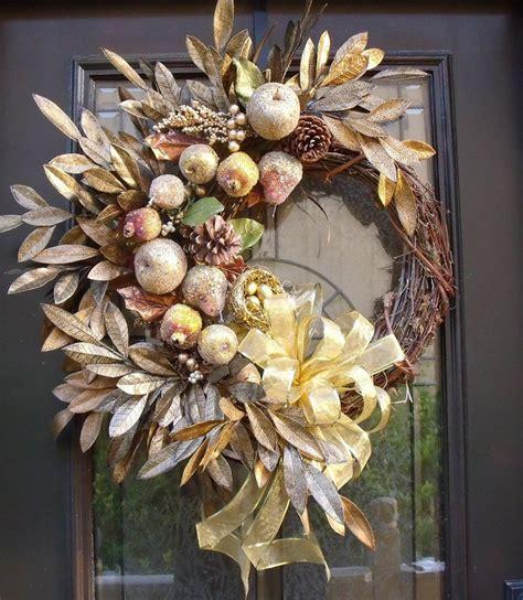 modern fall wreaths sugared fruit christmas wreath della
