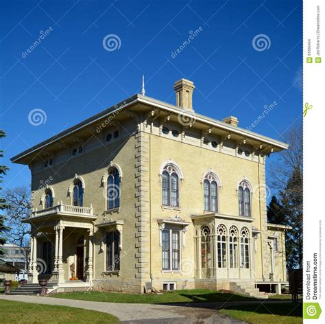 italian house janesville wisconsin lincoln tallman house editorial stock image image 61666404