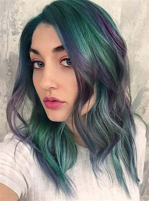 amethyst hair color 50 bold pastel and neon hair colors in balayage and ombre