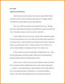 How To Write A Graduate Essay by 3 Personal Statement For College Exles Attorney Letterheads