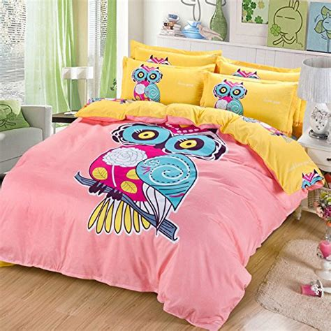 Twin Size Comforter Sets For Kids Sandyshow 2pc Owl Bedding For Children Twin Duvet Cover