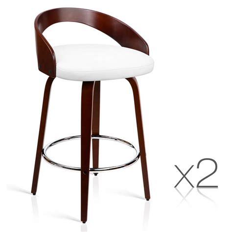 Wood Bar Stool Set by Set Of 2 Cherry Wood Bar Stools With Chrome Footrest