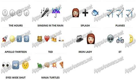 guess the film by emoji guess the emoji movies level 11 answers apps answers net