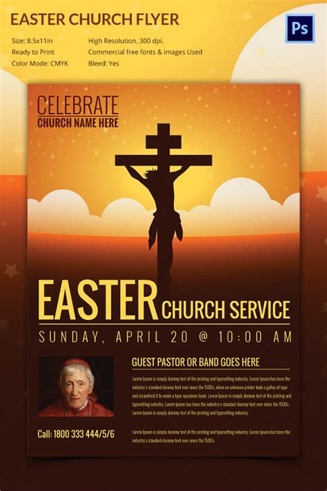 flyer design unique easter flyer template 33 download documents in vector