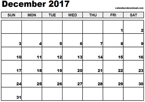 printable calendar december 2017 word december 2017 calendar pdf printable template with