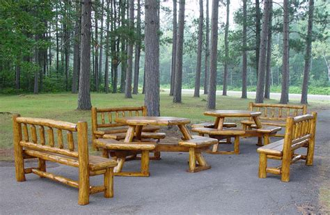 Log Patio Furniture by Outdoor Patio Set 171 The Log Builders