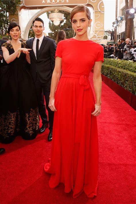 emma watson golden globes emma watson wears christian dior couture at 2014 golden