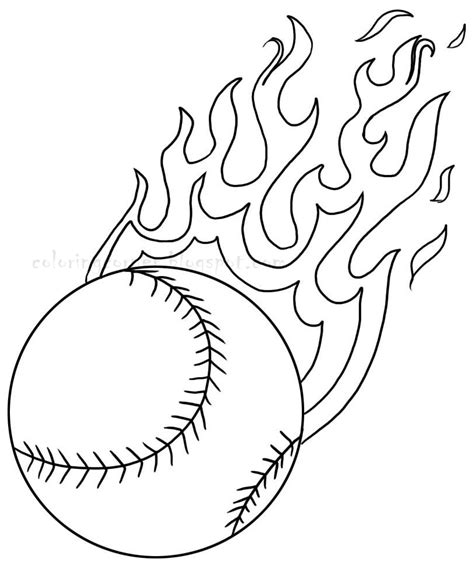 easy softball coloring pages free baseball game coloring pages