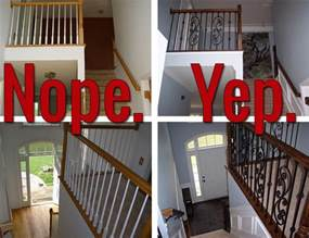 Replacement Banister How To Install Iron Balusters View Along The Way