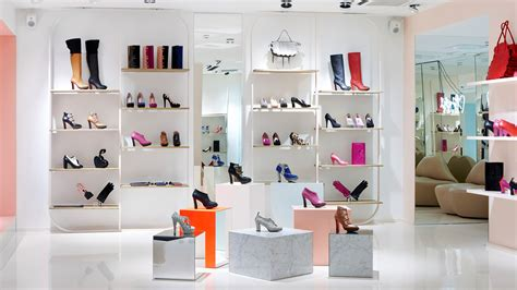 Classy Home Decor by Modern Shoes Store Interior Idea In Cheerful Pastel Colors