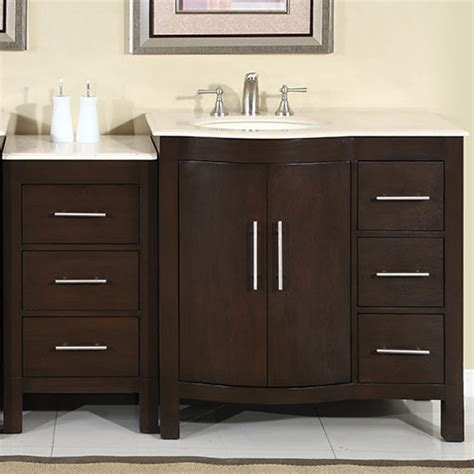 53 Bathroom Vanity Silkroad 53 Inch Modular Traditional Bathroom Vanity Marfil Counter Top