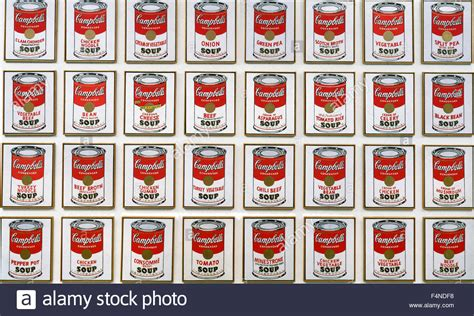 andy warhol soup cans andy warhol cbell s soup cans stock photo royalty
