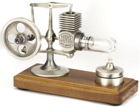 desk toys for engineers ministeam stirling engine brushed aluminum