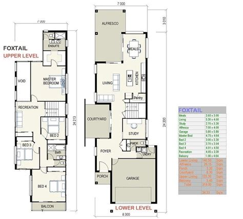 Foxtail Small Lot House Plans Free Custom Home Design | modern narrow lot house plans new foxtail small lot house