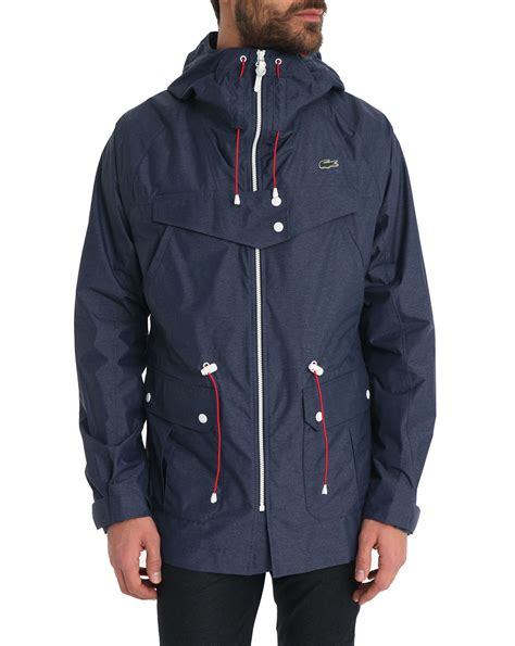 Jaket Navy Bolak Balik 2 In 1 lacoste navy blue parka jacket with in blue for navy lyst