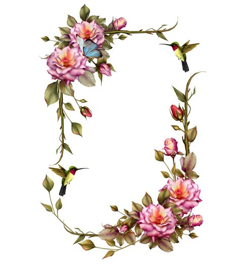 Home Desig by Roses Frame With Humming Bird