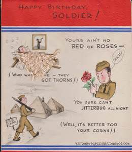 vintage recycling 1940s wwii greeting cards for soldiers