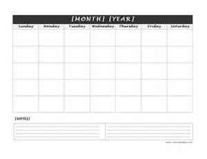 calendar notes template search results for blank calendar month with notes