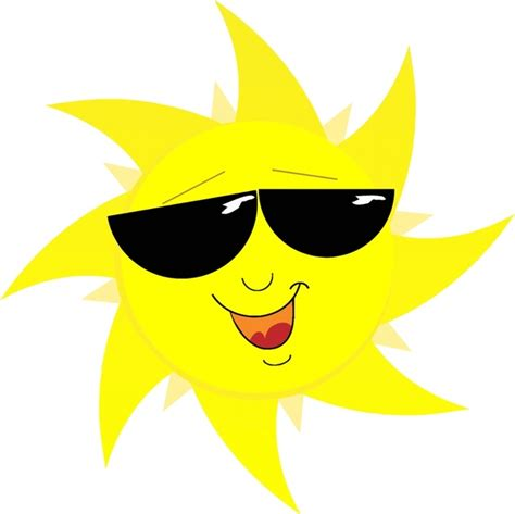 Sun Sun Yellow abstract yellow sun with sunglasses free vector in