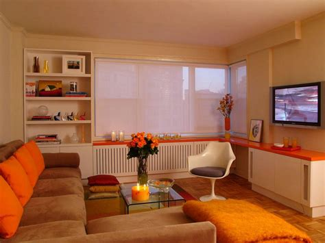 orange living room orange design ideas color palette and schemes for rooms in your home hgtv