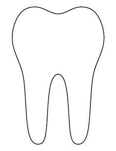 template of a tooth printable tooth outline healthy teeth