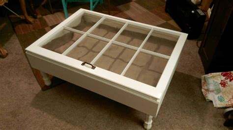 shadow box coffee table reclaimed windows by sandjbargainvault
