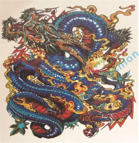 tattoo dragão oriental vermelho achetez en gros bleu dragon tatouages en ligne 224 des