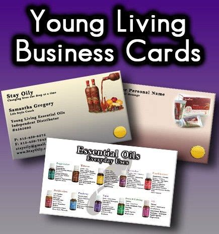 doterra business card template custom young living business card