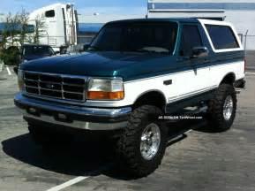 1996 Ford Bronco Xlt 1996 Ford Bronco Xlt Sport Utility 2 Door 5 8l