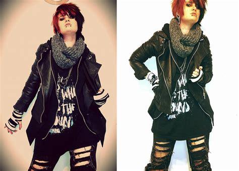 Magic Scraft By Kayana Fashion l gray scraft studded biker jacket boyfriend s