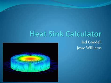 heat sink calculator ppt heat sink calculator powerpoint presentation id 269840