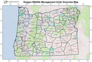 Oregon Hunting Map by Bend Oregon Map Images