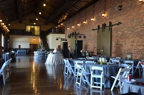 inside depot set for wedding carrollton