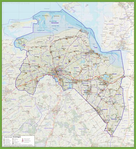 netherlands highway map groningen province road map
