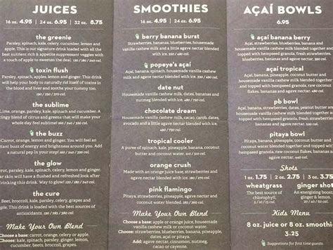 Detox Bar Menu by Nekter Juice Bar Blackhawk Menu Food Diet