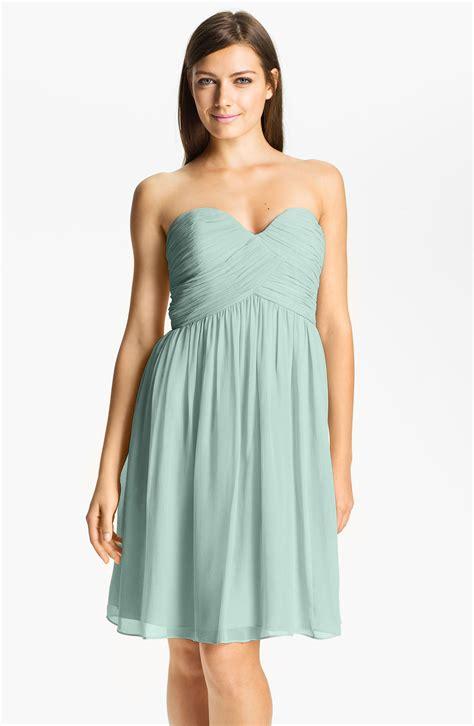 donna glass dress donna strapless silk chiffon dress in