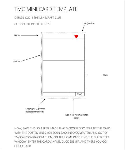 minecard template tmc cards wiki fandom powered by wikia