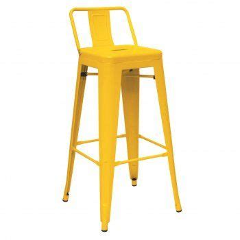 Yellow Metal Bar Stools by Yellow Metal Bar Stool With Back Amarillo Mellow