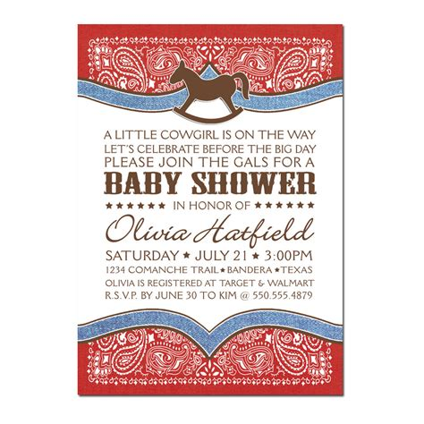 Baby Shower Cowboy by Cowboy Bandana Baby Shower Printable Pdf Only