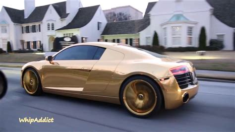 audi r8 gold whipaddict dennis schroder s gold wrapped audi r8 on gold