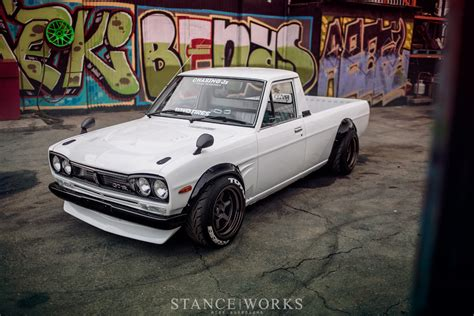 nissan pickup stance the quot hakotora quot dominic le s custom skyline datsun hybrid