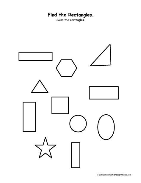 Rectangle Printable Worksheets