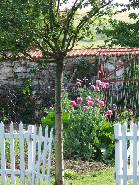 french country guest cottage  garden