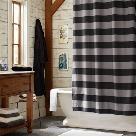 Boy Bathroom Shower Curtains by Rugby Stripe Shower Curtain Eclectic Shower Curtains