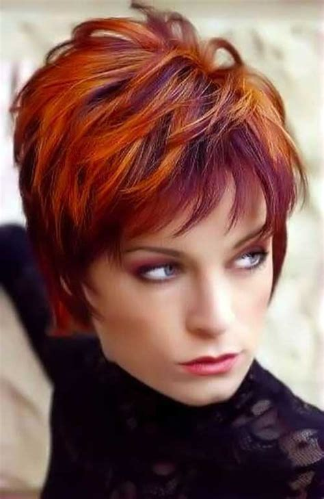 pink highlights hair older women 10 red pixie cut short hairstyles 2017 2018 most