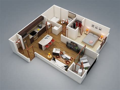 Floor Plans For 4 Bedroom Houses best 25 one bedroom apartments ideas on pinterest 1